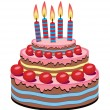 Vector birthday cake — Image vectorielle