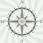 Vector vintage compass — Stock Vector