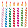 Vector colorful birthday candles — ベクター素材ストック