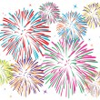 Stock Vector: Vector colorful fireworks