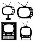 Vector retro tv set — Stock Vector