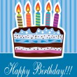 Vector birthday cake - Stock Vector