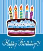 Vector birthday cake — Stockvektor