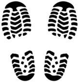Vector man's foot prints — Stock Vector