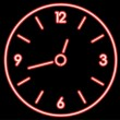 Vector neon clock — Stock Vector