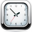 Vector silver clock — Stockvektor