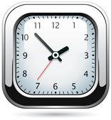 Reloj de plata de vector — Vector de stock