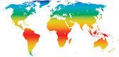 Vector climate world map — Stock Vector