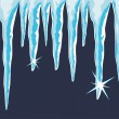 Vector shiny icicles — Vector de stock
