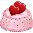 Vector valentine cake — Stock Vector