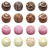 Vector set of chocolate candies — Vector de stock
