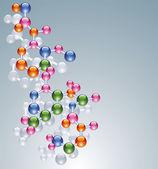 Vector abstract molecule — Stock Vector