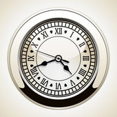Vector vintage clock — Stockvektor