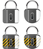 Vector set of padlocks — Stock Vector