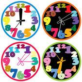 向量组的炫彩时钟 — 图库矢量图片