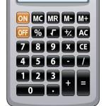 Vector gray calculator — Stock Vector #9917112