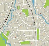 Vektor abstrakt stadskarta — Stockvektor
