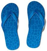 Vector pair of blue flip flops — Stock Vector