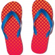 Vector pair of flip flops - Stock Vector