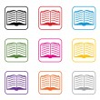 Vector set of book symbols — Stock Vector #9940247