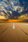 Spare the runway on sunrise — Stock Photo