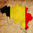 Stock Photo: Belgium grunge map outline with flag
