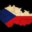 Czech Republic grunge map outline with flag — Stock Photo #9346687