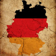 Stock Photo: Germany grunge map outline with flag