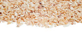 Minced Garlic on white background — Stock Photo