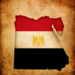 Map outline of Egypt with flag grunge paper effect — Stock Photo