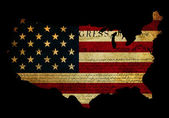 Declaration of Independence grunge America map flag — Stock Photo