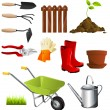 Garden tools — Stock Vector #8049373