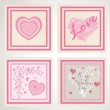 Valentine`s day stamps set — Stock Vector