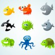 Sea animals — Stock Vector #9140653