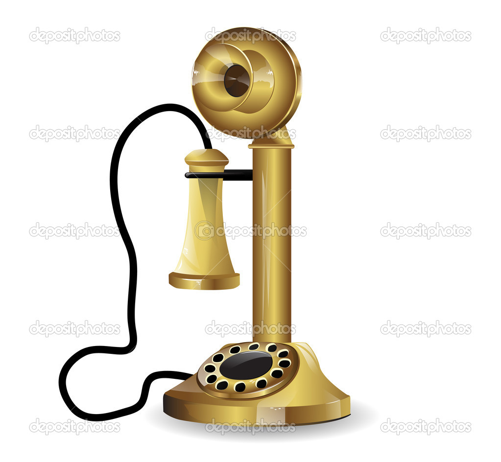 Vector vintage telephone - Stock IllustrationVintage Telephone Illustration