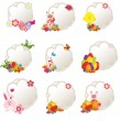 Collection of different decorative easter tags — Stock Vector