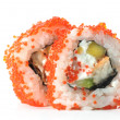 Sushi isolation on white — Stock Photo