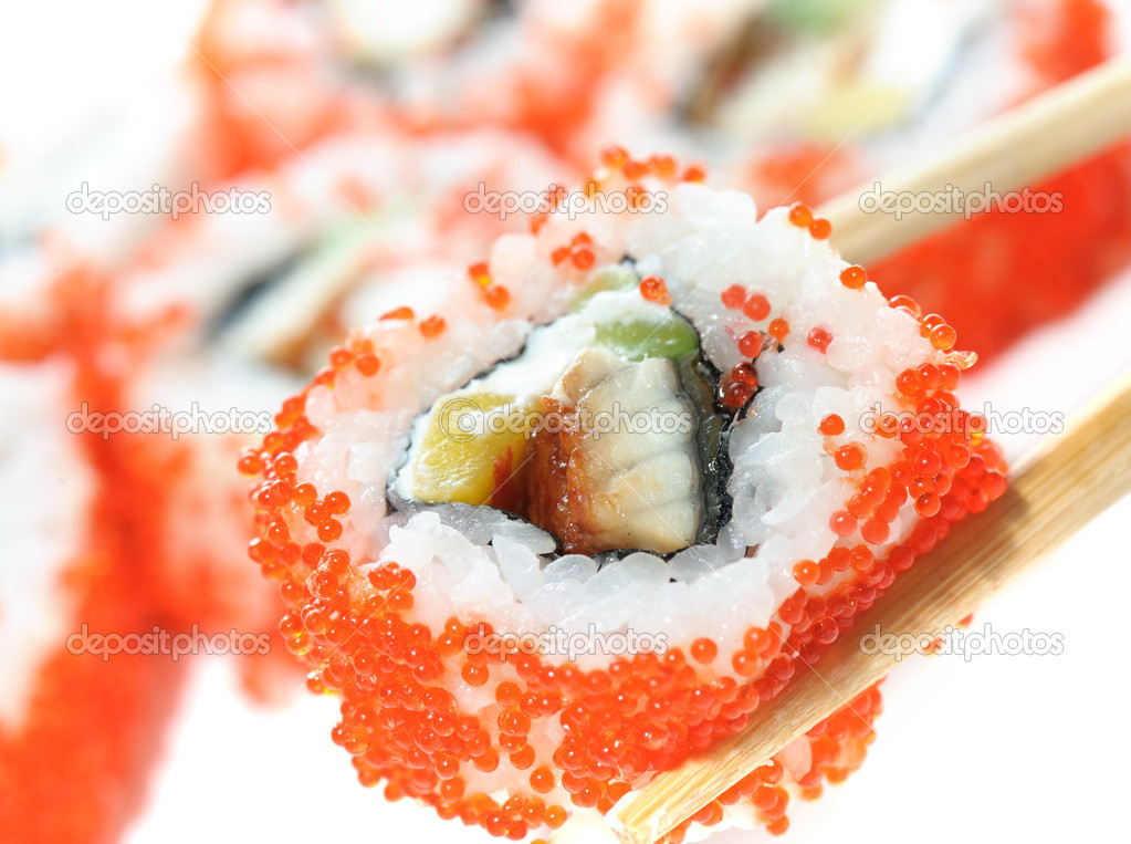 Sushi isolation on white  — Stock Photo #10281239