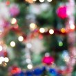 Blured background of a christmas tree with colourful lights — Stock Photo