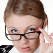 Royalty-Free Stock Photo: Girl in glasses