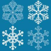 Flocos de neve — Vetor de Stock