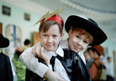 Children in fancy dress — Stock Photo