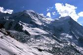 Mountain winter view (Mont Blanc, Chamonix, France) — Стоковое фото