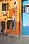Bright house of painter in Burano Island — Stock Photo