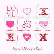 Love, greeting card for Valentine's Day — Foto de Stock