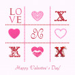 Love, greeting card for Valentine's Day — Stock Photo