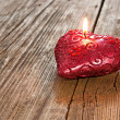 Royalty-Free Stock Photo: Red heart shaped candle