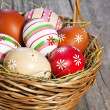 Easter eggs in the basket — Stock Photo #9473901