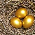 Three golden eggs — Stock Photo #9473917
