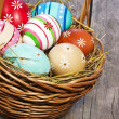 Easter eggs in the basket — Stock Photo #9473964